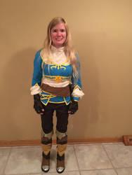 BotW Zelda Adventurer Outfit Cosplay by Princess-Selia