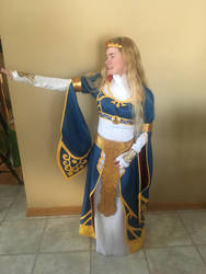 BotW Zelda Royal Dress Cosplay 2 by Princess-Selia