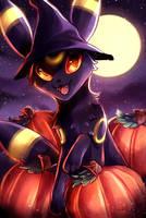 an umbreon halloween! by awkwaard