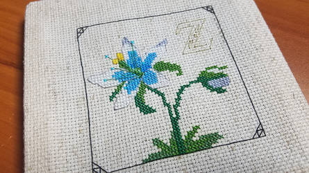Zelda Breath of the Wild Cross Stitch Flower by Sirithre