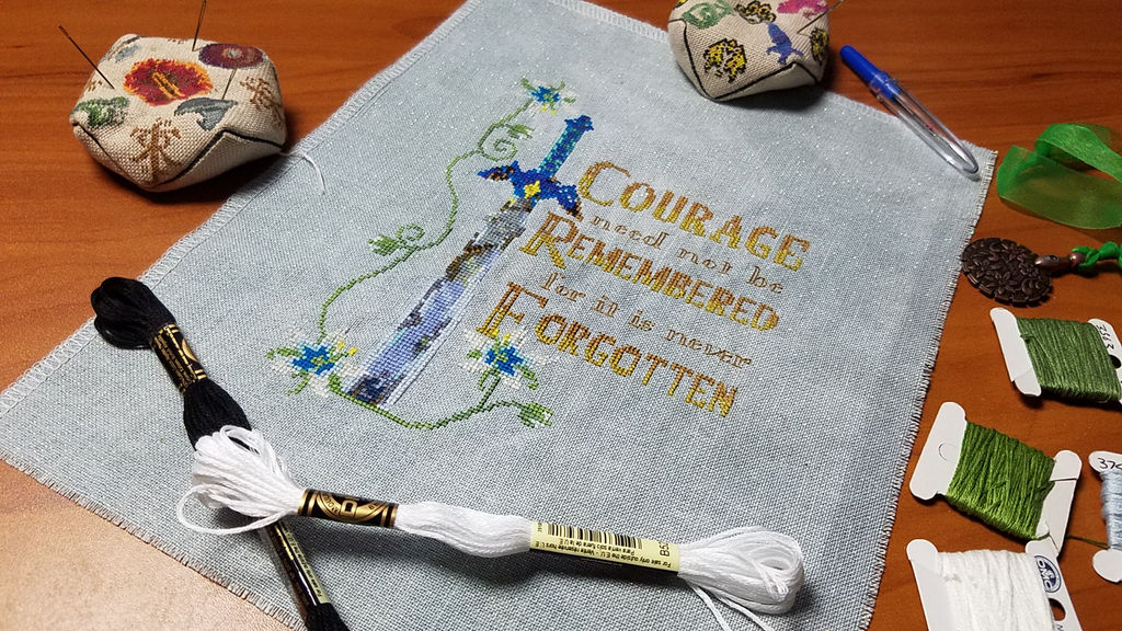 Zelda Courage Cross Stitch by Sirithre