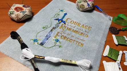 Zelda Courage Cross Stitch by Sirithre