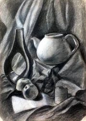 Charcoal teapot by ArtAndJoy