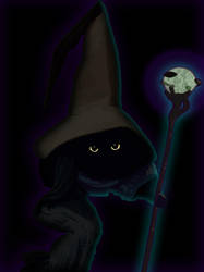 Black Mage Cat by Sylnoss