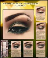 Dramatic Nude Eyeshadow Tutorial by psychoren