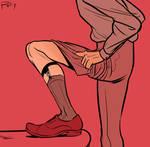 sock garters by PollyGuo