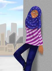 Nadia - Art Trade with Nahmala by HikariAlyaa