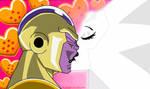 Golden Frieza X White Diamond by Mustache-Twirler