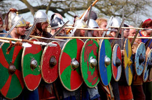 viking battle by Crisscoula