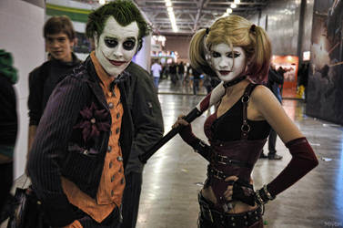 Joker and Harley Quinn by NatalieCartman