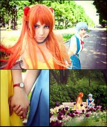 Asuka and Rei by NatalieCartman