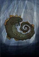 Horn-Ridged Sea-Serpent by brobe