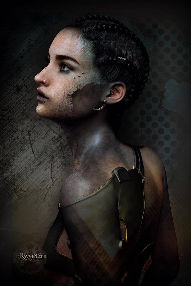 Cyberpunk Gaze by Ravven78