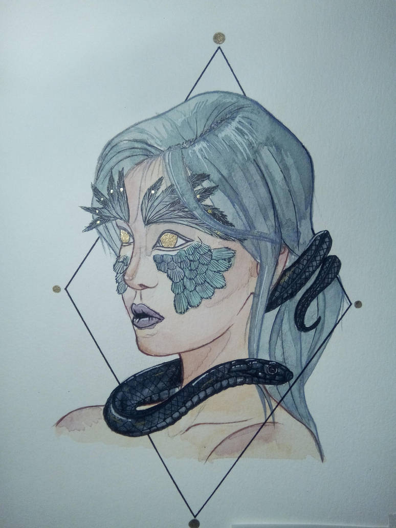 Princess of feathered snakes by Citromiel