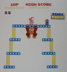 Hama Beads - Donkey Kong II by acidezabs