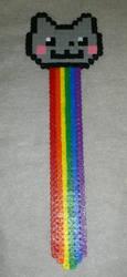 Nyan cat Bookmark (hama beads) by acidezabs