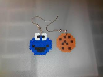 Cookie Monster Earrings by acidezabs