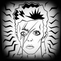 A tribute to Ziggy Stardust (in progress) by BrianABernhard