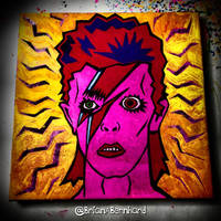 A David Bowie inspired work in progress  by BrianABernhard