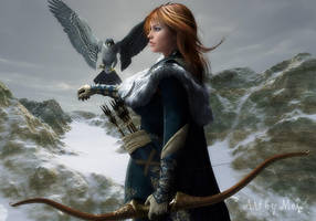 The Falconer by Art-By-Mel-DA