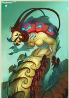Lobster demon mermay? by Phosphonian