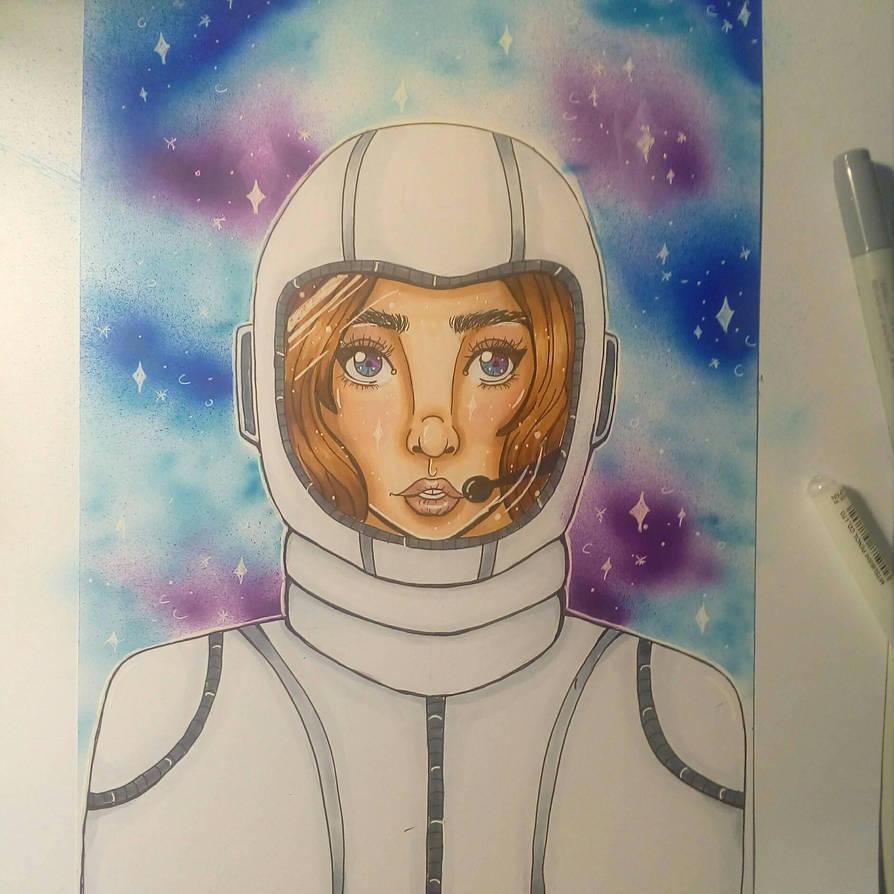 Astronaut  by freddiidraws