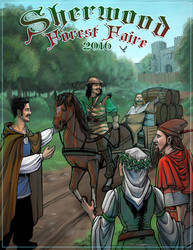 Sherwood Forest Faire 2016 program cover by dreamie