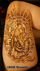 Henna Art Nouveau Geisha by dreamie
