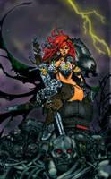 Red Sonja: Queen of Steel - Colors by oO-Monkey-Oo