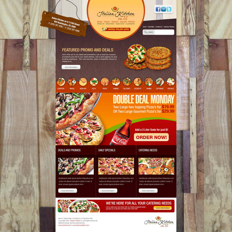 Website Interface Italian Pizza Kitchen 2nd By Lans2gt On