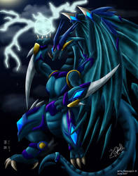Armored Thunder Dragon by Kampidh