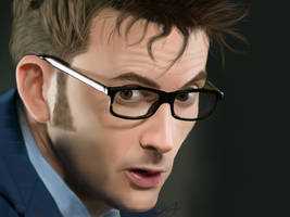 David Tennant as The Doctor: Redraw by epicamytime