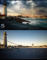 Light House and Town.02 by pitposum