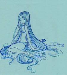 Water elf by fionaa-illu
