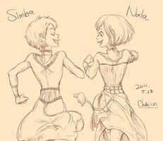 Simba and Nala by chacckco