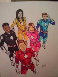 Mighty Morphin Power Rangers (Colored) by KingCozy7