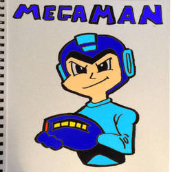 First Time Sketches Mega Man by Mischief-MakerStudio