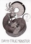 Inktober-Day11 : True Monster by Szczurzyslawa