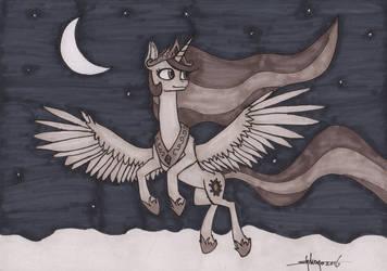 Inktober 24: A Midnight Flight by Shikogo