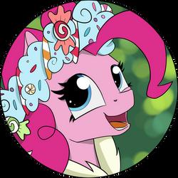 Pinkie Pie - Hearth's Warmin Eve Button Design! by Shikogo