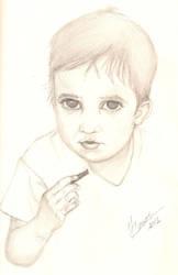 Keith at 2 years old by NanaCasas