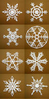 Paper Snowflakes by TheAmoebic
