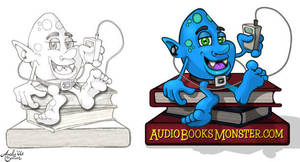 Book Monster 1 by Art-by-Andy