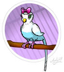 Tallulah the Parakeet by Art-by-Andy