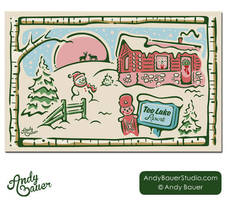 2012 Tee Lake Resort Christmas Card by Art-by-Andy
