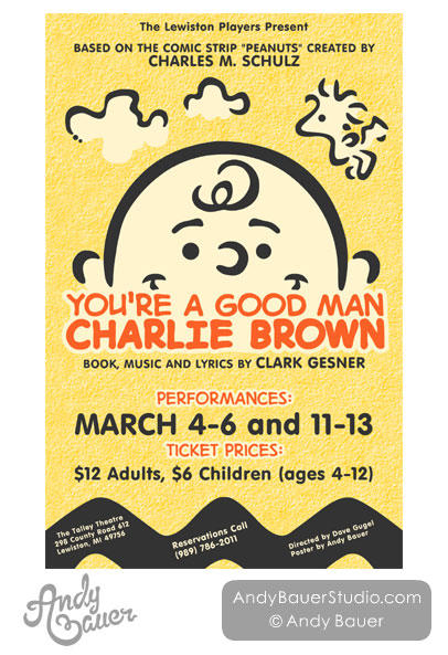 You're A Good Man Charlie Brown - Poster Design by Art-by-Andy