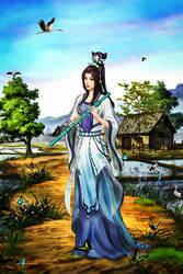 Girl rice fields by BriGht-liGht-NSH