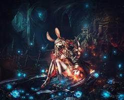 Ms. rabbit glittering mine worker by BriGht-liGht-NSH