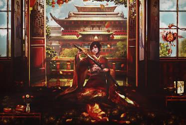 Girl Samurai Sad by BriGht-liGht-NSH