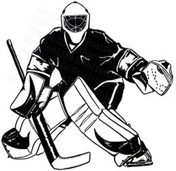 Goalie Black and White by GoaliGrlTilDeath